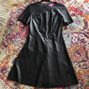 Catherine MaLandrino Faux Leather Dress